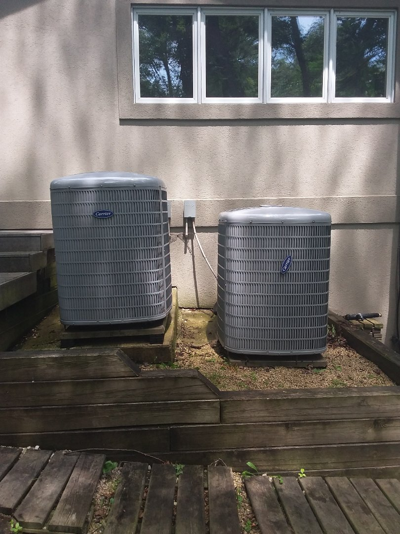 Palos Park, IL - Maintaining two Carrier AC units