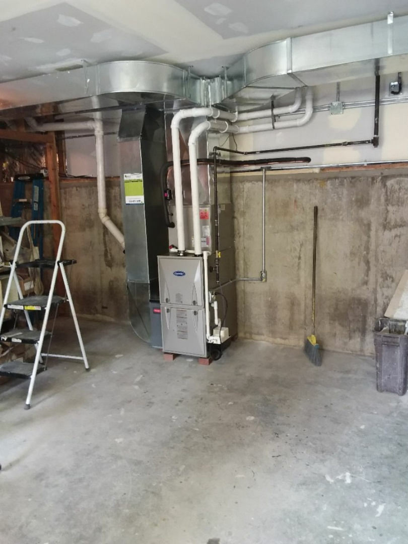Riverside, IL - Carrier furnace and air conditioning system installation