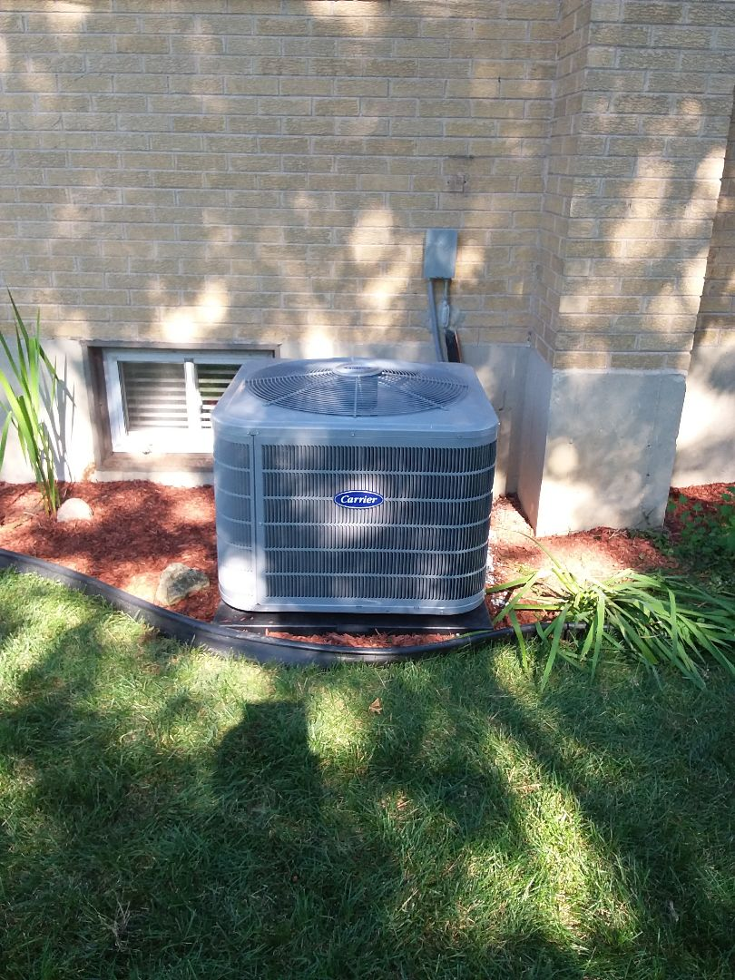 Lombard, IL - Carrier High efficiency furnace and air conditioner installation