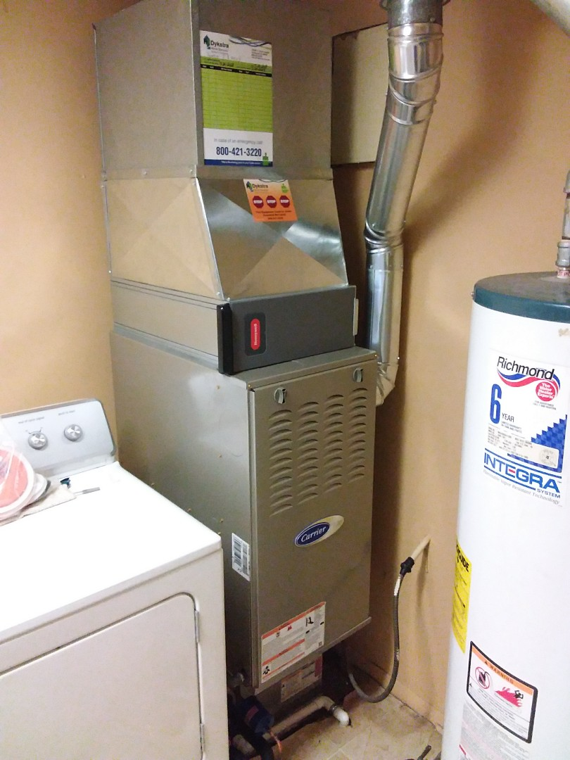 Dolton, IL - Installed carrier furnace with air cleaner and Air Conditioner