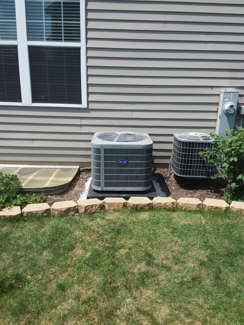 Plainfield, IL - Carrier air conditioner installation