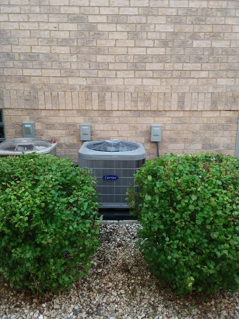 Roselle, IL - Installation of carrier air conditioner