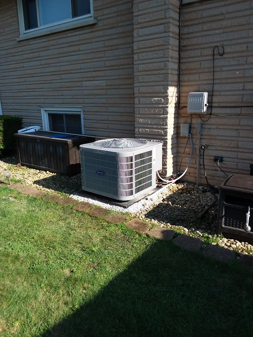 Oak Lawn, IL - Carrier air handler/ condensing unit replacement
