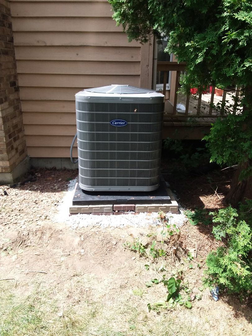 Naperville, IL - Carrier air conditioner installation
