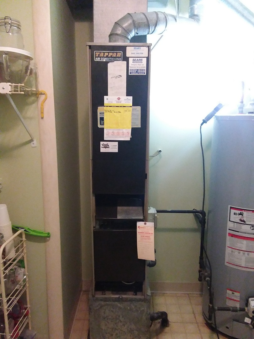 Wheeling, IL - Installation of new carrier furnace replacing old Tappan furnace