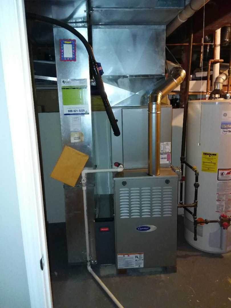 Tinley Park, IL - Carrier furnace and air conditioning system installation