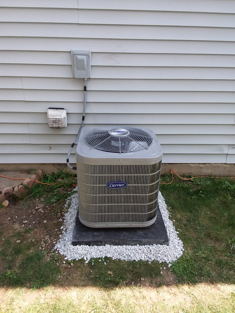Romeoville, IL - Carrier air conditioner installation