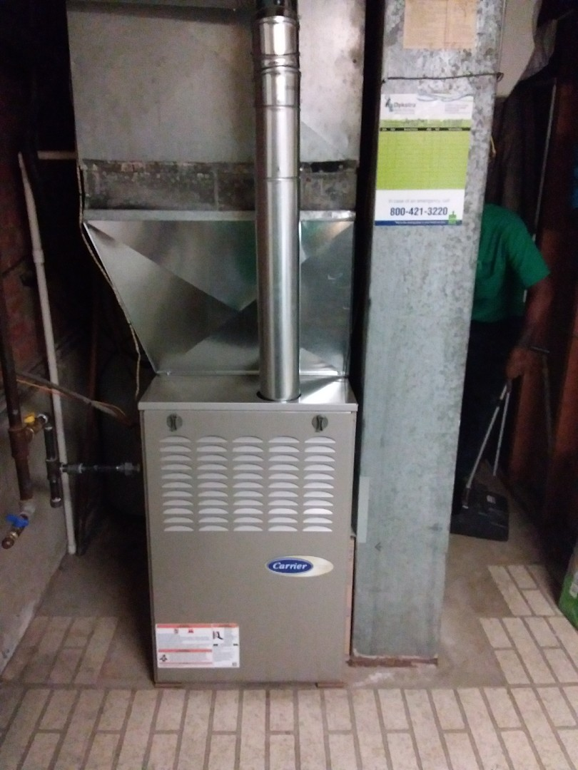 Homewood, IL - Installation of new carrier furnace replacing old carrier furnace