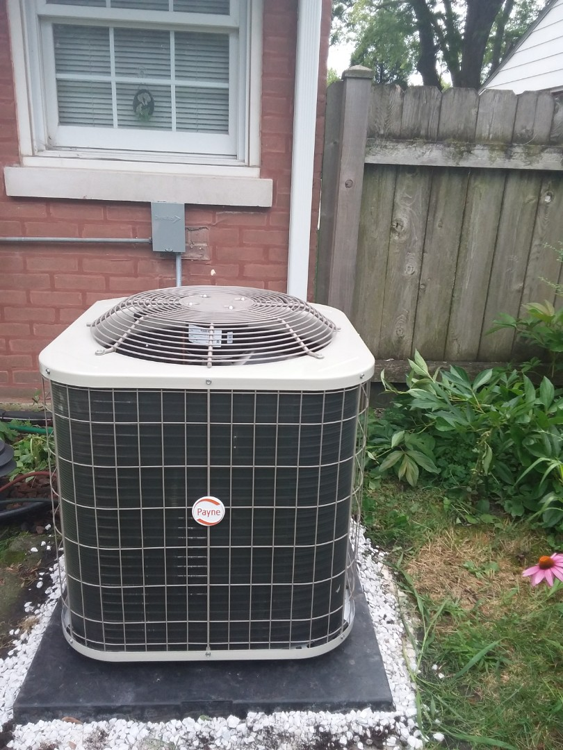 Lyons, IL - Installation of Payne air conditioner