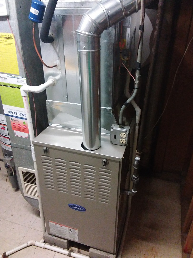 Tinley Park, IL - Carrier furnace replacement with carrier Humidifier