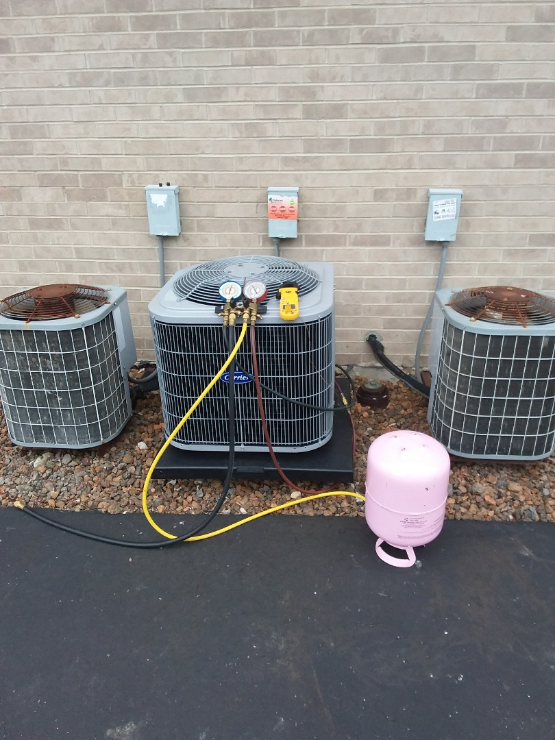 Alsip, IL - Installation of a carrier condenser a.c. unit