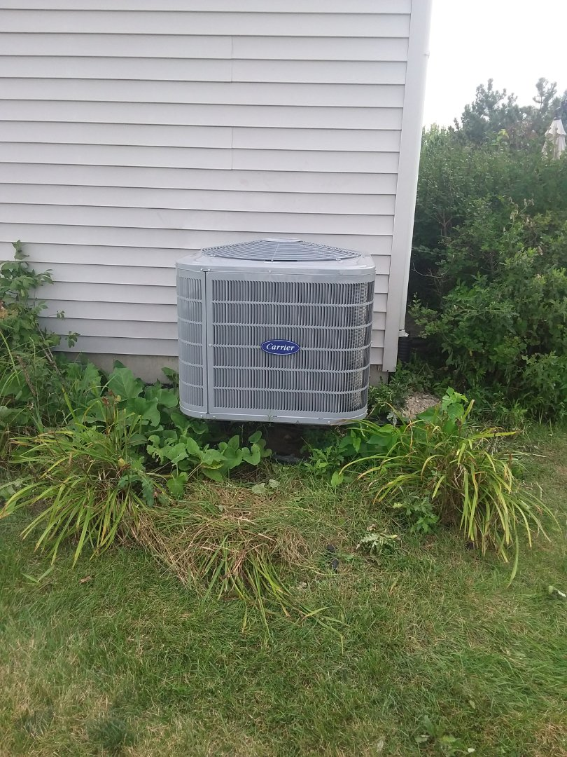 Bolingbrook, IL - Installation of carrier air conditioner replace old Goodman air conditioner