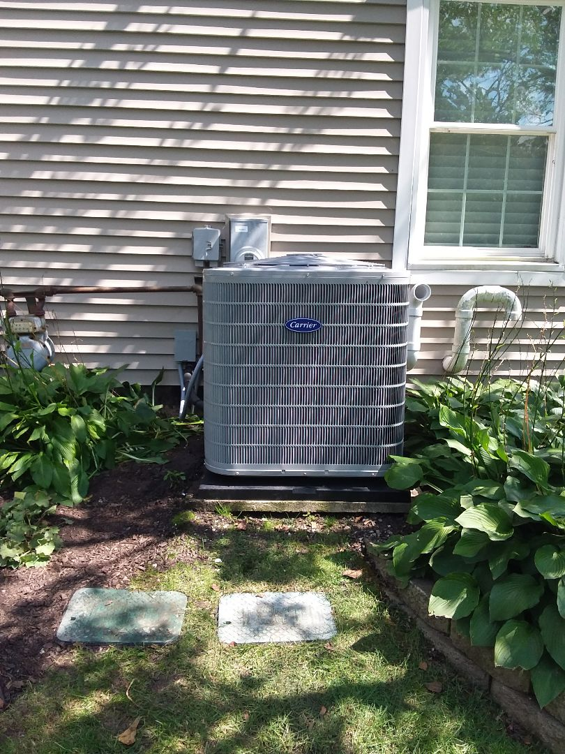 Frankfort, IL - Carrier air conditioner installation