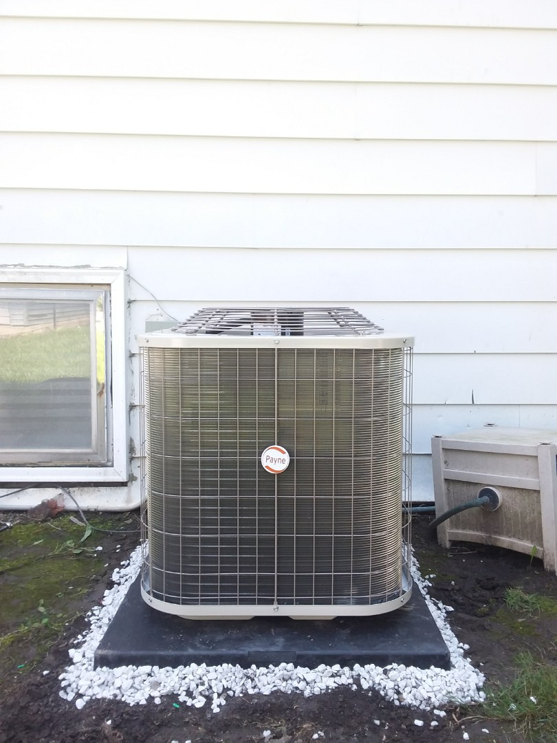 Chicago Heights, IL - Installation of Payne air conditioner