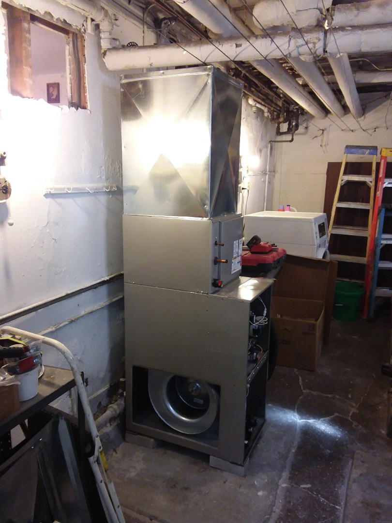 Chicago, IL - Installation of new carrier furnace and ductwork