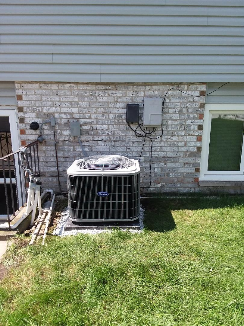 Alsip, IL - Installation of carrier air conditioner and furnace