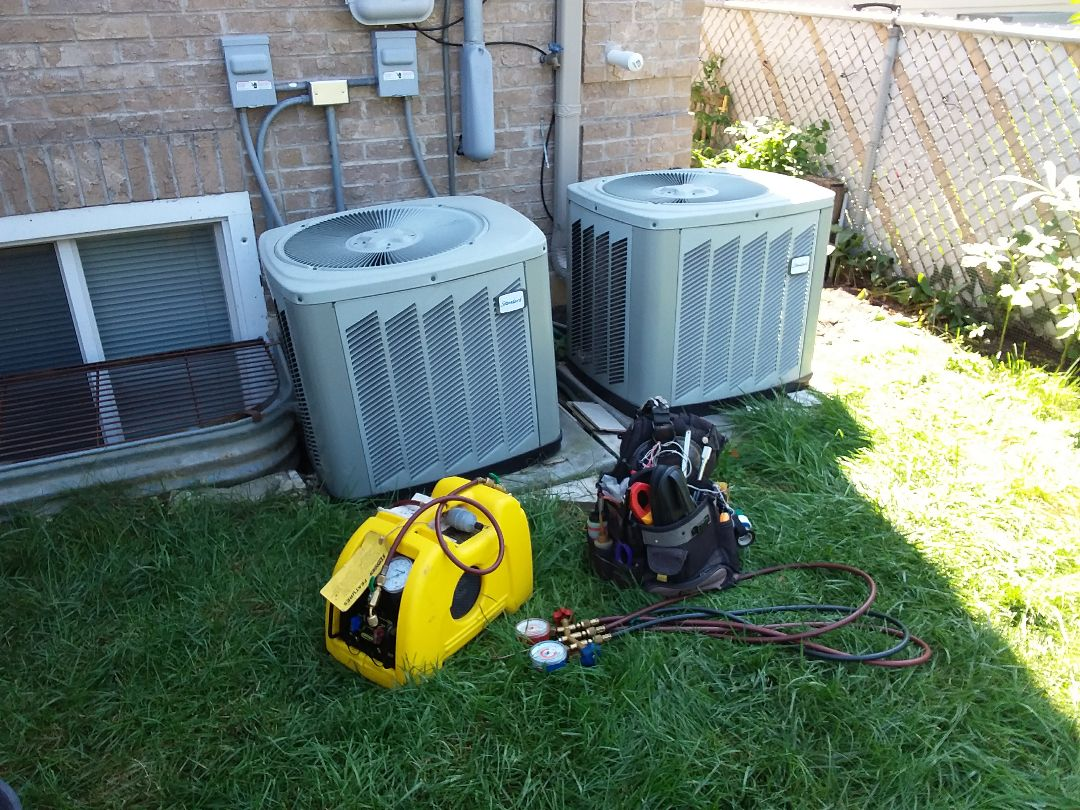 Harwood Heights, IL - Relocation condensers