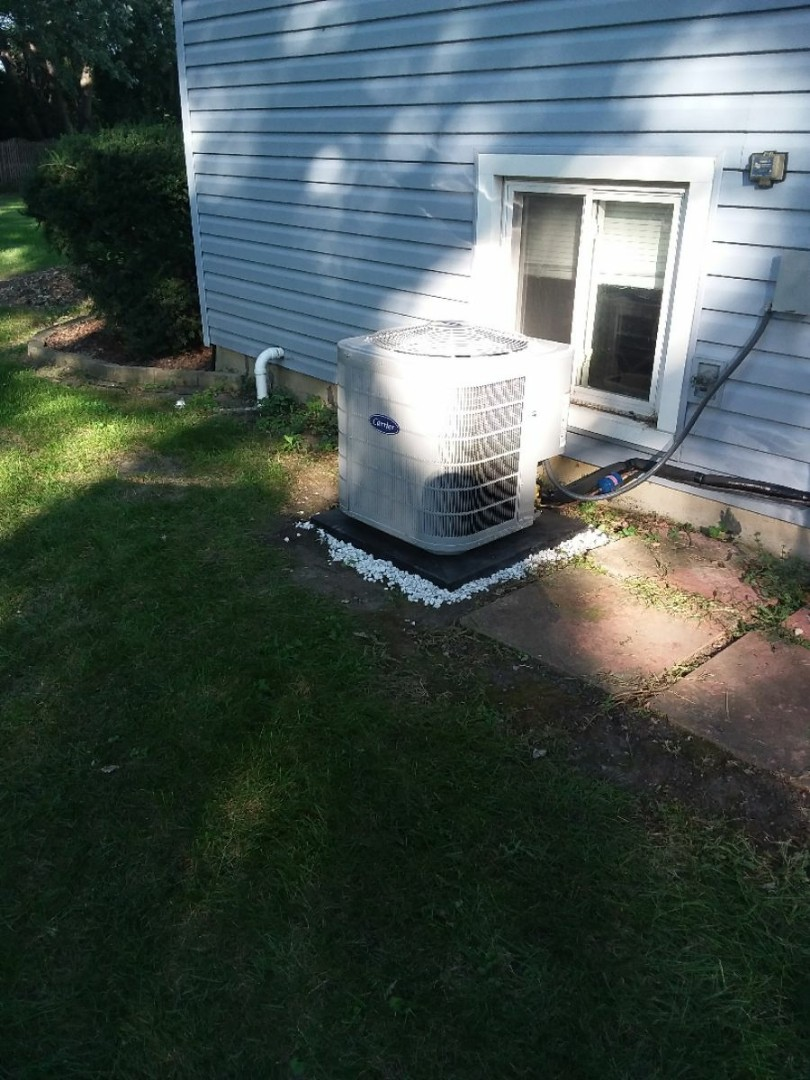 Wheaton, IL - Carrier air conditioning system installation