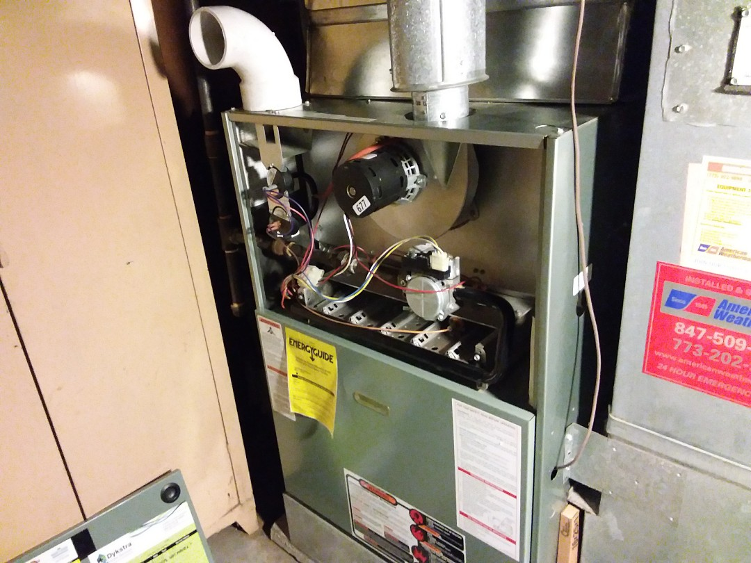 Evanston, IL - Clean and checked furnace and humidifier