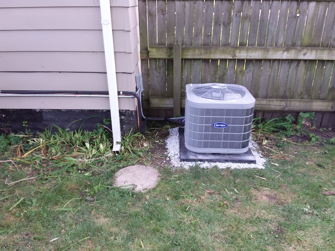 Midlothian, IL - Installation of new carrier air conditioner