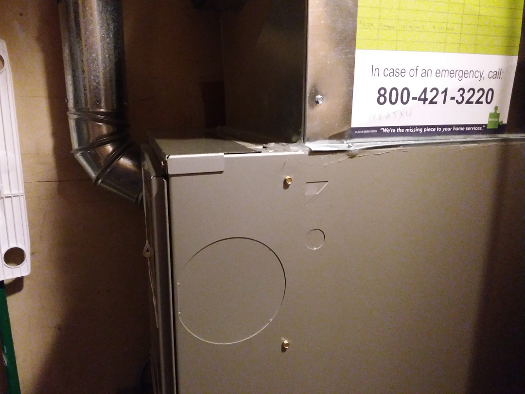 Clean and checked furnace
