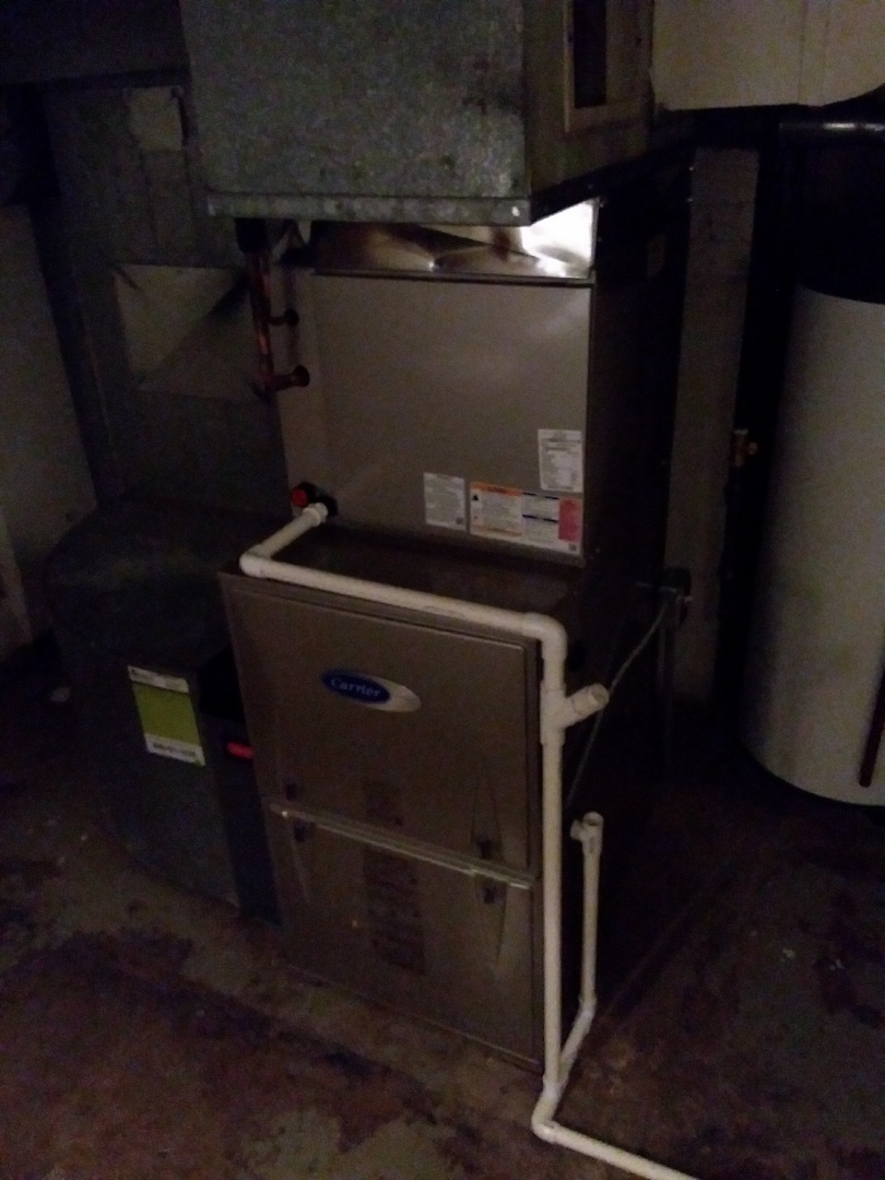 Park Ridge, IL - Installation of new carrier furnace replacing old Kenmore furnace