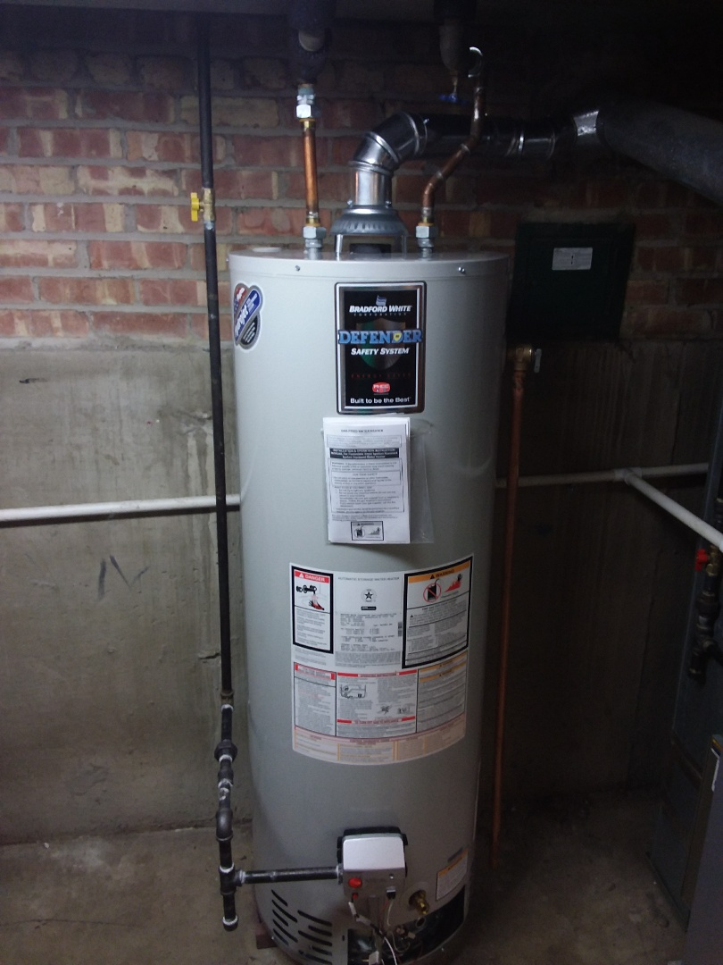 Evergreen Park, IL - Hot water tank installation