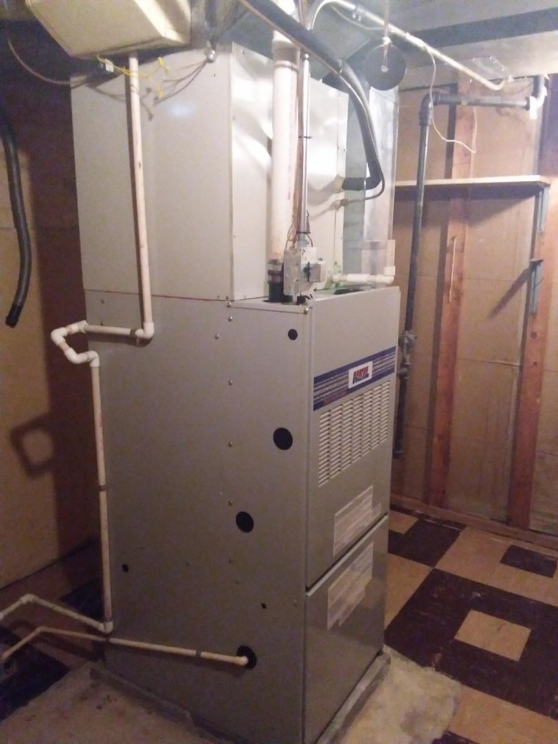 Chicago, IL - Installation of new carrier furnace replacing old Kenmore furnace