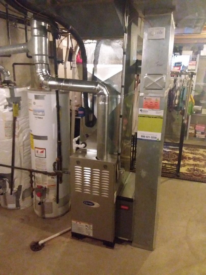 Olympia Fields, IL - Carrier furnace and Air Conditioner installation