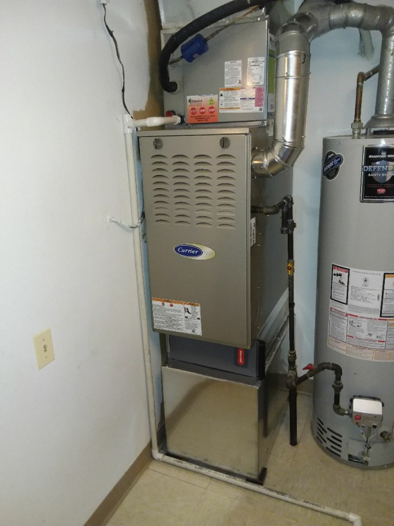 Orland Park, IL - Carrier furnace and air conditioning system installation