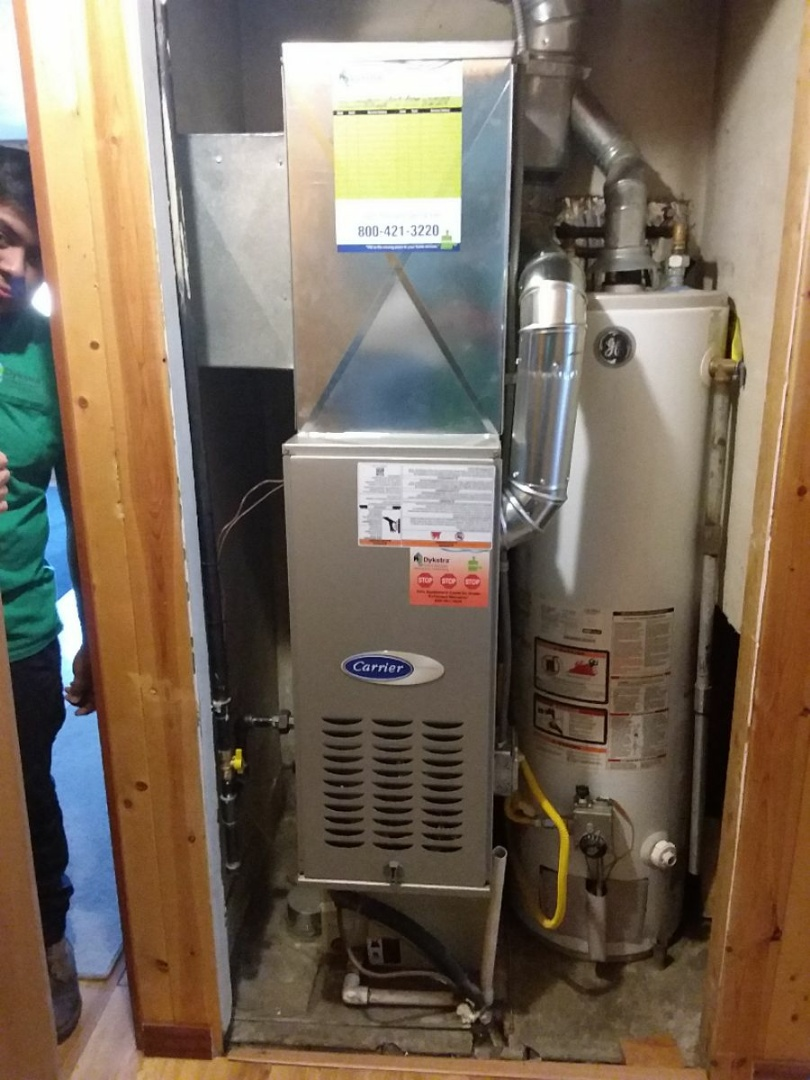 Hometown, IL - Carrier furnace replacement