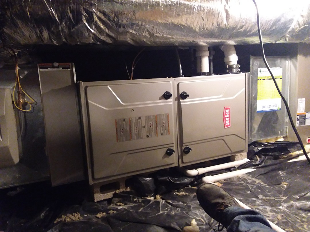 Palos Heights, IL - Bryant furnace replacement
