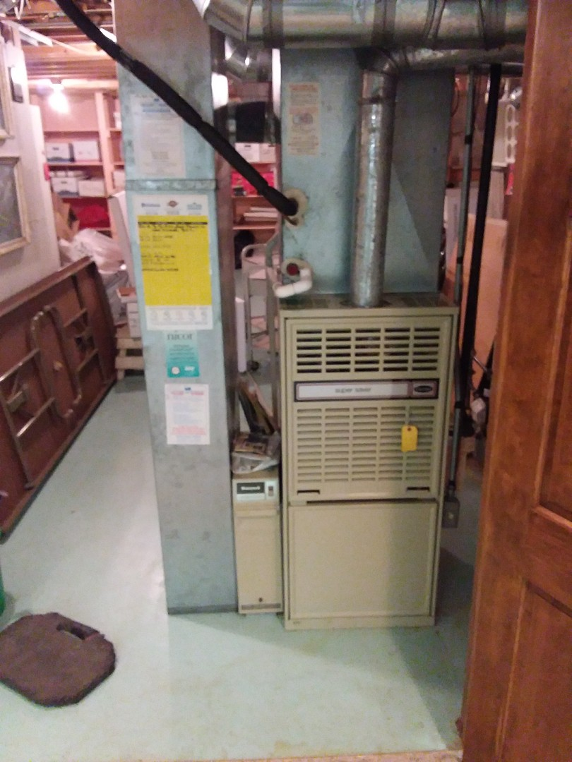 Bloomingdale, IL - Installation of new carrier furnace replacing old carrier furnace