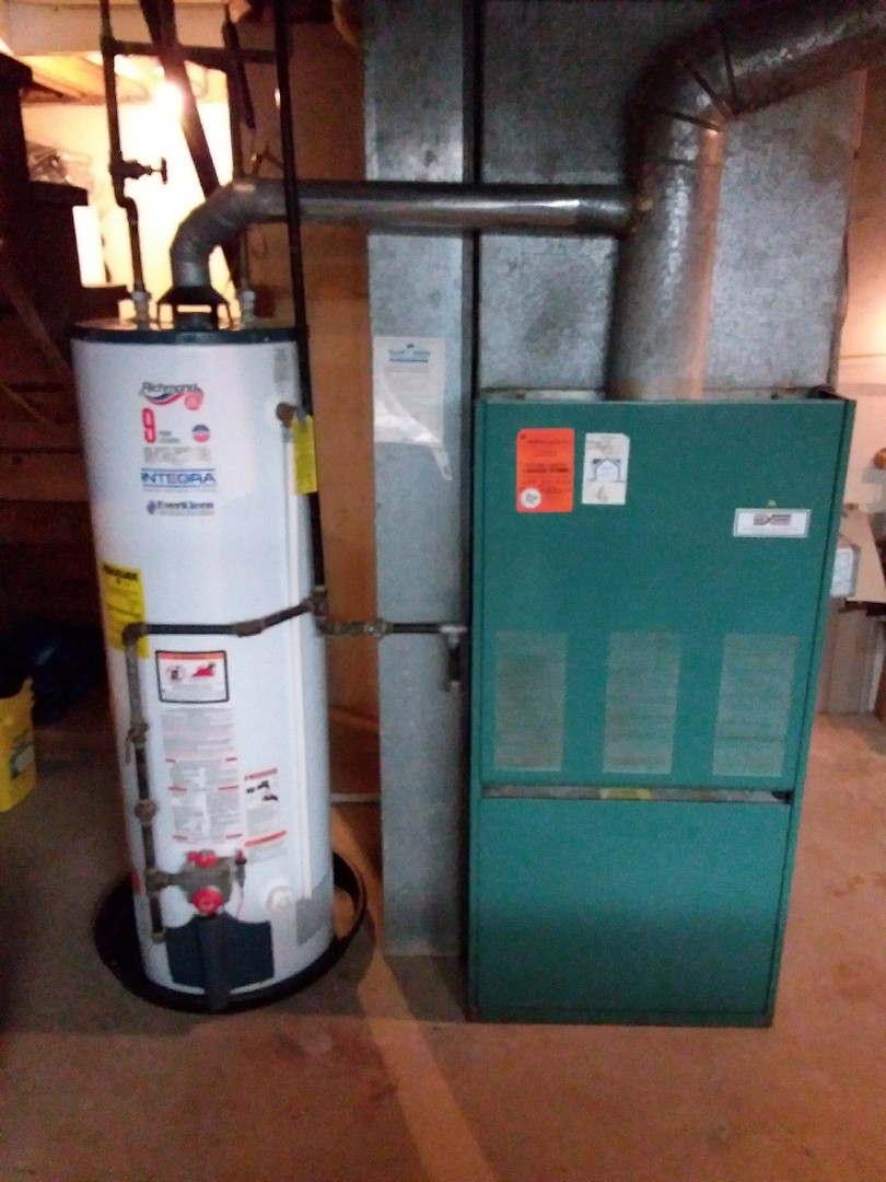 Carol Stream, IL - Installation of new carrier furnace replacing old burg warner furnace