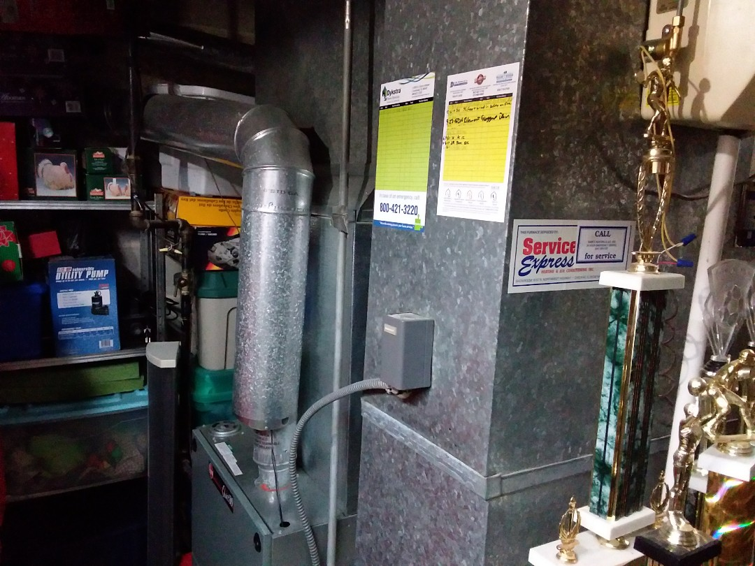 Morton Grove, IL - Clean and checked furnace