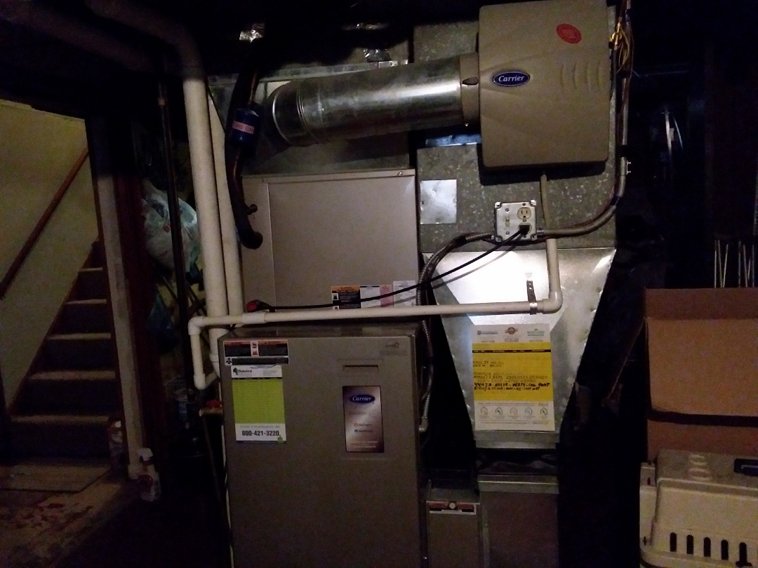 Elgin, IL - Clean and checked furnace and humidifier