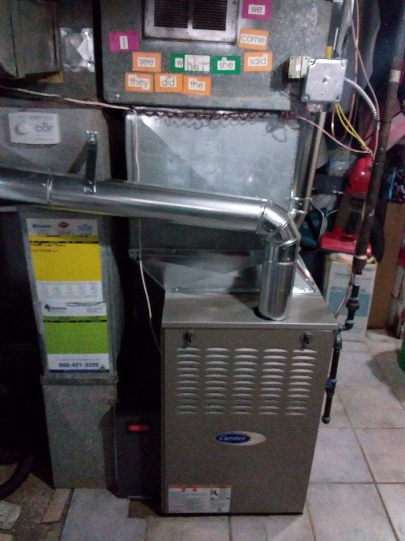 Glenview, IL - Installation of new carrier furnace replacing old trane furnace