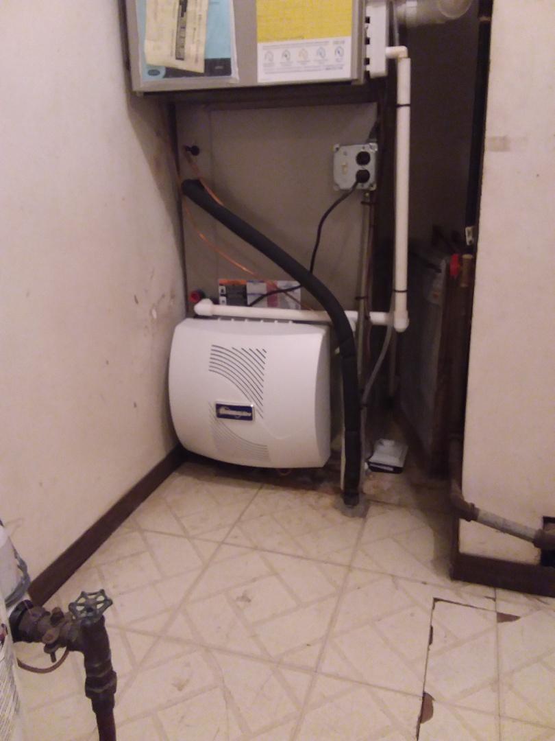 Oak Forest, IL - GeneralAire fan powered humidifier installation