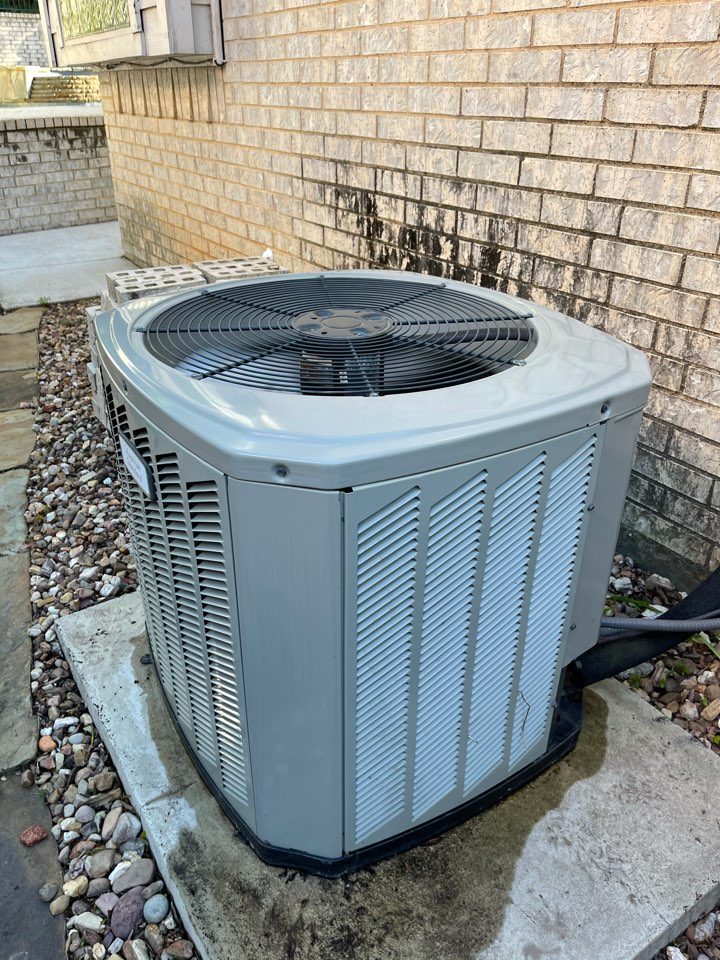 Colleyville, TX - Cleaned and serviced air conditioning system