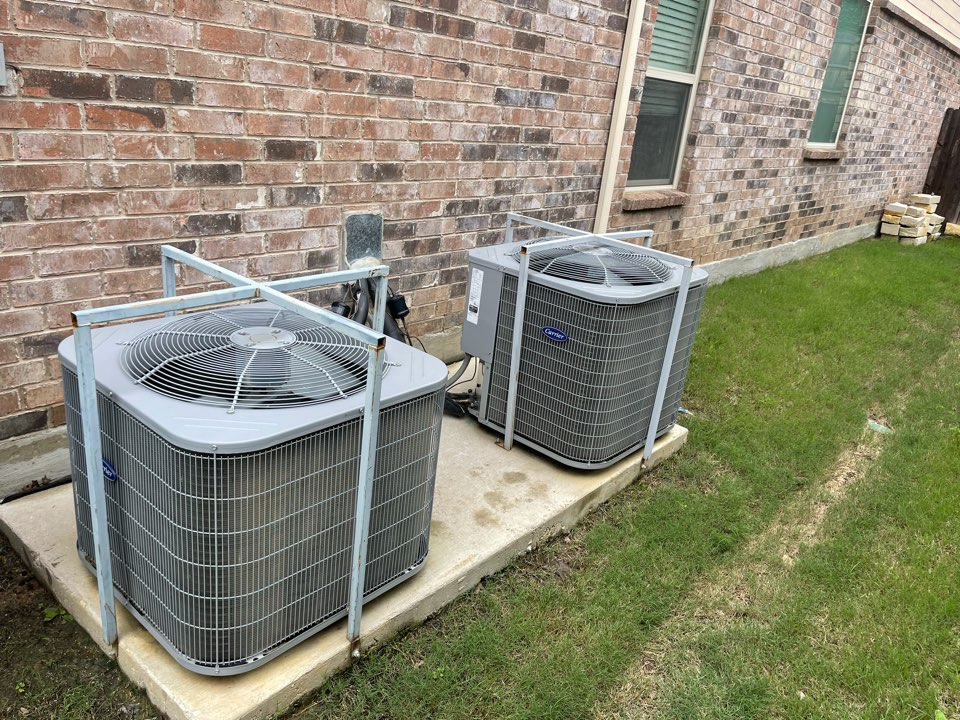 Denton, TX - Cleaned and performed summer maintenance on AC systems
