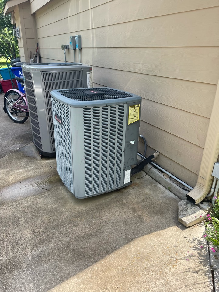 Colleyville, TX - Performed emergency air conditioning repair on an Amana unit in Colleyville, TX