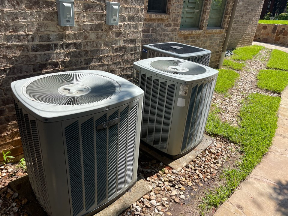 Colleyville, TX - Performed emergency air conditioning system repair on TRANE systems in Colleyville, TX