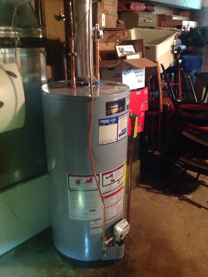 Minneapolis, MN - Replaced an old leaking water heater with a new one and cleaned out a kitchen sink drain