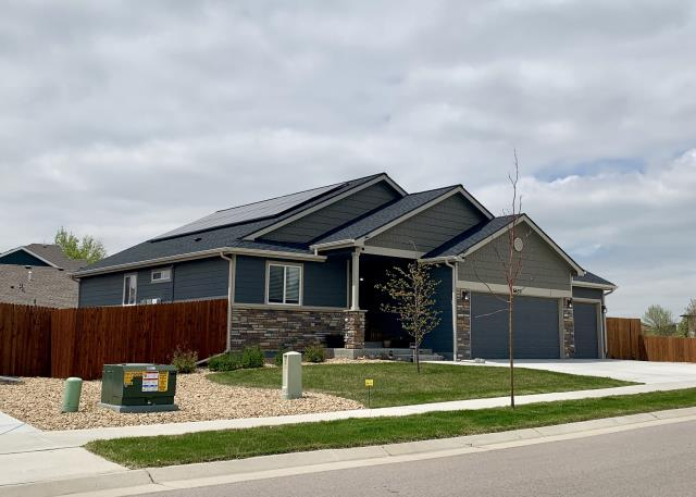 Frederick, CO - We installed a new roof on this home in Frederick that was hit with hail.  The shingles we installed are GAF Timberline HD shingles in Charcoal.