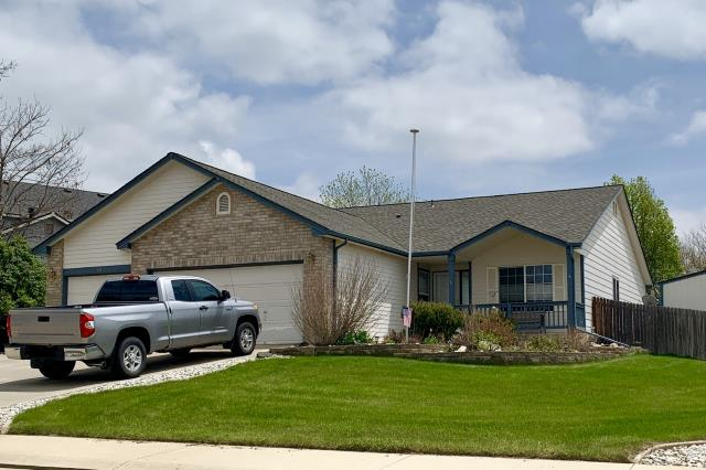 Frederick, CO - This is a home in Frederick that we just re-roofed for a second time - due to hail damage the second time.  We installed GAF Timberline HD shingles in the color Weathered Wood.