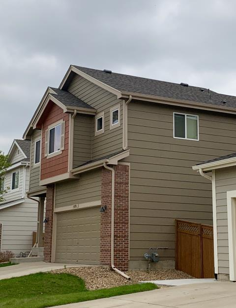 Firestone, CO - We re-roofed this home in Firestone that was hit with hail last summer.  The shingles we installed are GAF Timberline HD shingles in the color Weathered Wood.