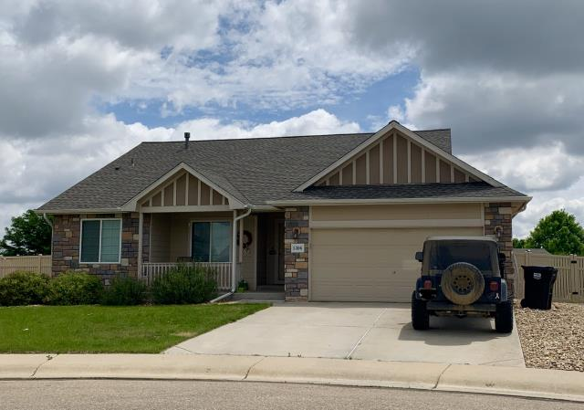 Firestone, CO - We installed a new roof on this home in Firestone that was hit with hail last summer.  The shingles we installed are GAF Timberline HD shingles in the color Weathered Wood.
