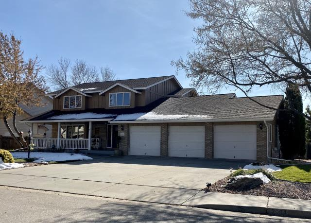 Loveland, CO - We installed a new roof on this home in Loveland.  The shingle system we installed included CertainTeed Northgate Class IV Impact Resistant shingles.  The color of the shingles is Burnt Sienna.