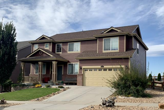 Mead, CO - We have installed a new roof on this home in Mead two times now due to hail damage.  On our latest installed the shingles we installed were CertainTeed Northgate Class IV Impact Resistant shingles in the color Heather Blend.