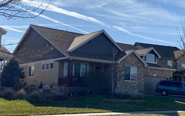 Fort Collins, CO - We have roofed this home in Fort Collins two times now due to hail damage.  We installed CertainTeed Northgate Class IV Impact Resistant shingles on this home the second time, in the color Resawn Shake.